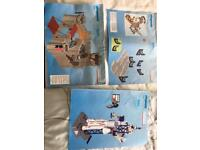 Playmobil castle , space station and lifeboat rescue
