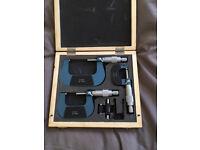 Outside Micrometer Set, 0-25mm, 25-50mm, 50-75mm