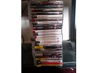 Ps3 with controller, headset, and 20 games