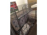Silver metal bunk bed