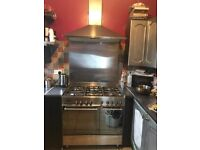 Stainless Steel Delonghi Range Cooker + Extractor Fan + Splashback-Free Delivery In Southampton