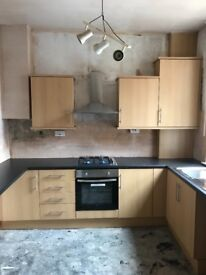 Brand new unused Howdens kitchen + electric oven, gas hob, extractor fan and sink all brand new