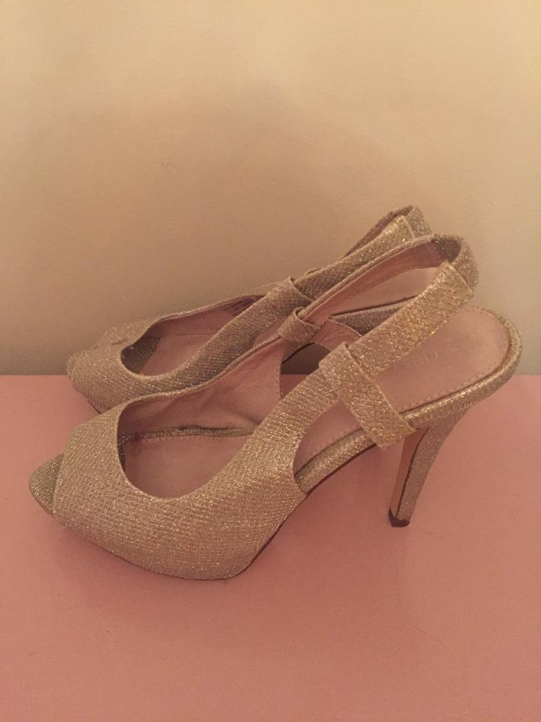 High gold heels
