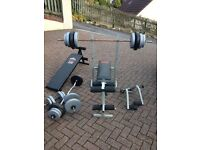 Weights, bench, reclining bench, dumbell