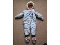 Baby Girls Snowsuit from Boots - 12-18 months. Immaculate condition, worn only once - £10