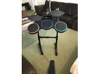 Nintendo Wii Drums + Guitar Hero World Tour Game