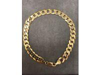 9k / Yellow Gold Bracelet / 11.97g / Excellent Condition