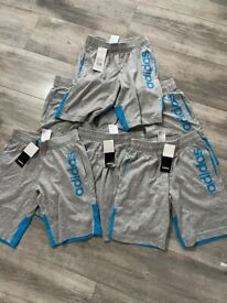 6 pairs of brand new adidas shorts size 9-10