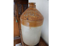 Large Stoneware Flagon - Bowerbank & Sons, Sun Street, London