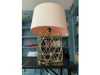 Geometric gold metal large lamp