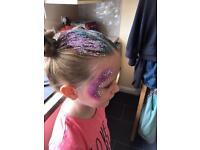 Olly Murs Glitter hair and face