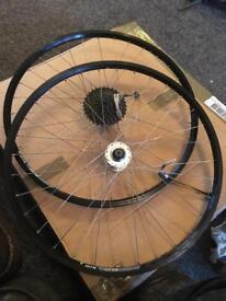 "26"" mountain bike wheels excellent condition"