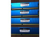4 x 4gb Corsair vengeance DDR3 LPX 1600mhz ram stick