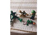 4 Childrens Characters Power Ranger, Mario, Sandman and aCharacter from Spiderman