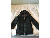 Mens Hemmingford Barbour insulated quilted jacket size L Olive