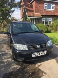 Fiat Punto Active 8v 2004 3 Dr Hatchback Black