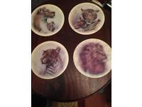 Set of four ceramic place mats
