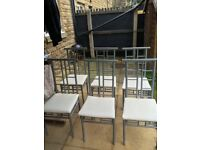 6 x Metal Dining Chairs