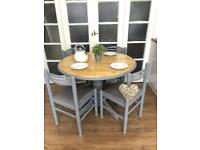 Pine Table and chairs Free Delivery Ldn Shabby Chic French Grey