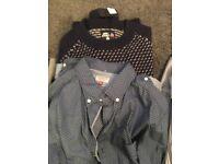 Men's next jacket & shirts & menrainers