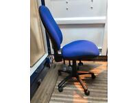 Office chair in blue