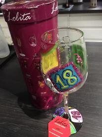 Lolita 18th Birthday Wine Glass with Box