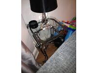 Coffee table/side tables glass also have the matching dinning table and 6 chairs,just been recoverd
