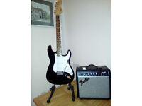 Squier Affinity Strat with amp