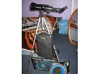 Telescope with tripod and carrying holdall