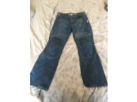 Red route Women's Kevlar armoured Motorbike jeans size 10