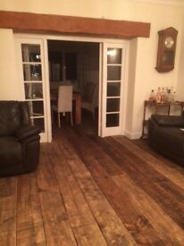 Solid Wood Floorboards 30sqm