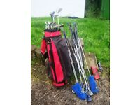 Lady's golf clubs - various mixed selection