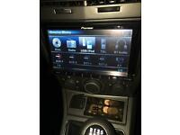 Pioneer double din headunit and speakers