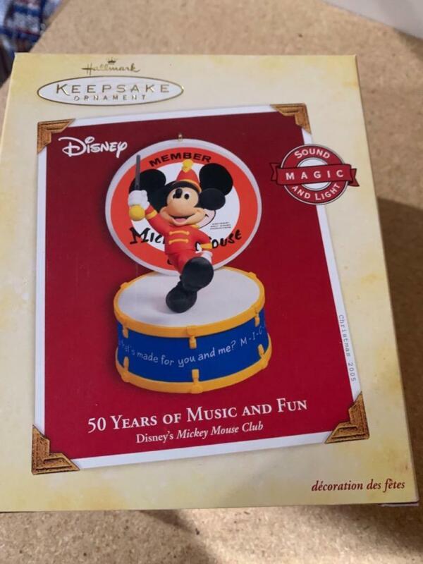 Hallmark Keepsake Ornament 2005 50 years of Music and Fun Mickey Mouse Club