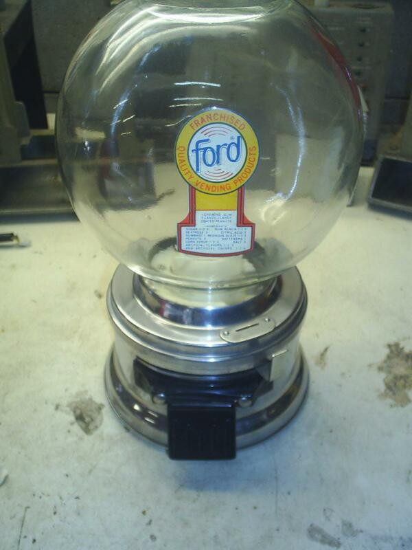 OLD Nice FORD GUMBALL MACHINE With  FREE ford GUMBALLS 1965