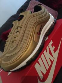 Nike air max 97 gold/wht uk 6 only