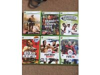 Xbox 360 Bundle - 2 Controllers, Wifi Connector - 6 Games