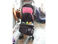 Hauck pushchair and cosy toes,only used once to take grand daughter round the block,was brand new