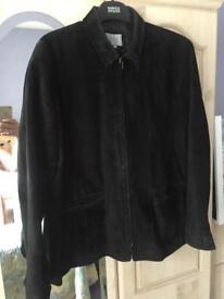 Ladies Black Real Suede Jacket - (M&S)