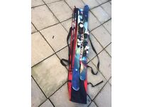 Scott Mission 168 skis, 125 poles and Saloman ski bag for sale