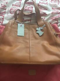 Genuine leather Radley handbag