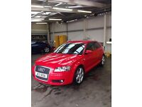 Audi A3 '06 Red 2.0L Manual 3 Door * * FULL SERVICE HISTORY & MOT * *