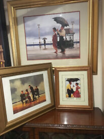 Three Nice Jack Vettriano Framed Prints - The Shape of Things to Come, Mad Dogs & Bad Boy Good Girl