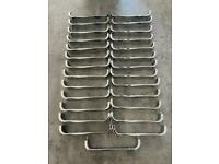 27 Quality Chrome Kitchen Door Handles - Great condition