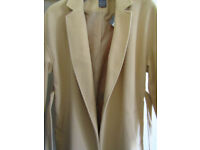 NEW Primark Double Breasted light Camel colour women ladies Tie Belt Trench Coat Size 18