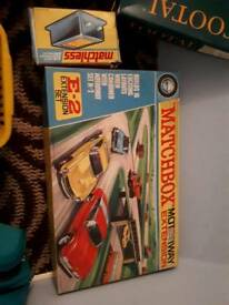 Matchbox motorway with extension kit and other accessories and cars