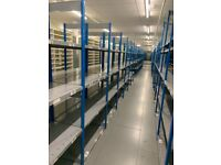 job lot 10 bays DEXION impex industrial shelving 2.1m high ( pallet racking , storage)