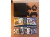 PS4 console 5OOGB with games & Blu rays bundle