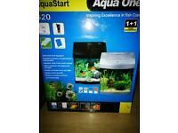 Aqua start 320 28ltr fish tank (white)