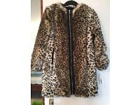 Zara faux fur jacket. Size xs.